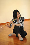 Miyuki Arai (transverse flute) at Opening performance of Conjunctions by Arthur Poor