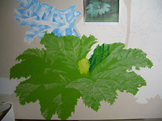 The Green Man by Artist Arthur Poor. Painting in progress.